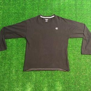Champion Black Long Sleeve T-Shirt